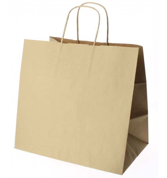 Buste Shopper in Carta Marrone 100g 27+14x26 cm (200 Pezzi)