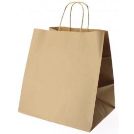 Buste Shopper in Carta Marrone 80g 26+20x27 cm (50 Pezzi)