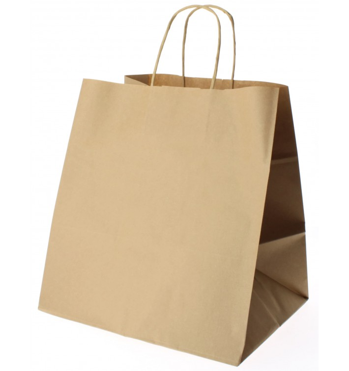 Buste Shopper in Carta Marrone 80g 30+18x29 cm (25 Pezzi)