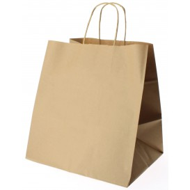 Buste Shopper in Carta Marrone 90g 26+20x27cm (250 Pezzi)