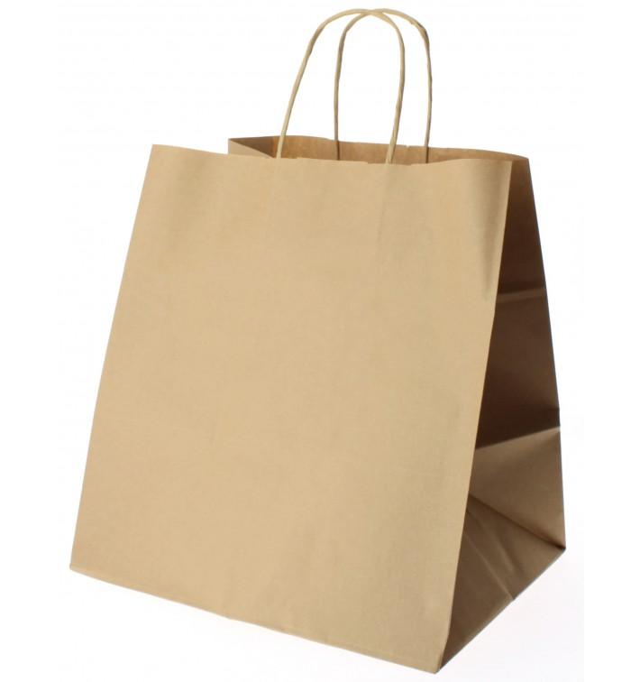 Buste Shopper in Carta Marrone 90g 26+20x27cm (250 Pezzi)