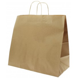 Buste Shopper in Carta Marrone 100g 35+15x30 cm (200 Pezzi)