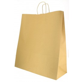 Buste Shopper in Carta Hawanna 100g 46+16x49 cm (50 Pezzi)