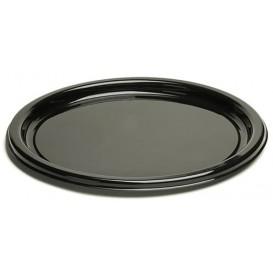Piatto di Plastica Tondo Nero 18 cm (25 Pezzi)