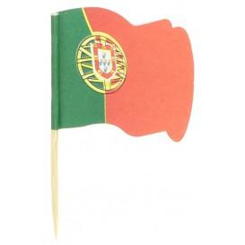 """Spiedi in Legno Bandiera """"Portogallo"""" 65mm (14.400 Pezzi)"""