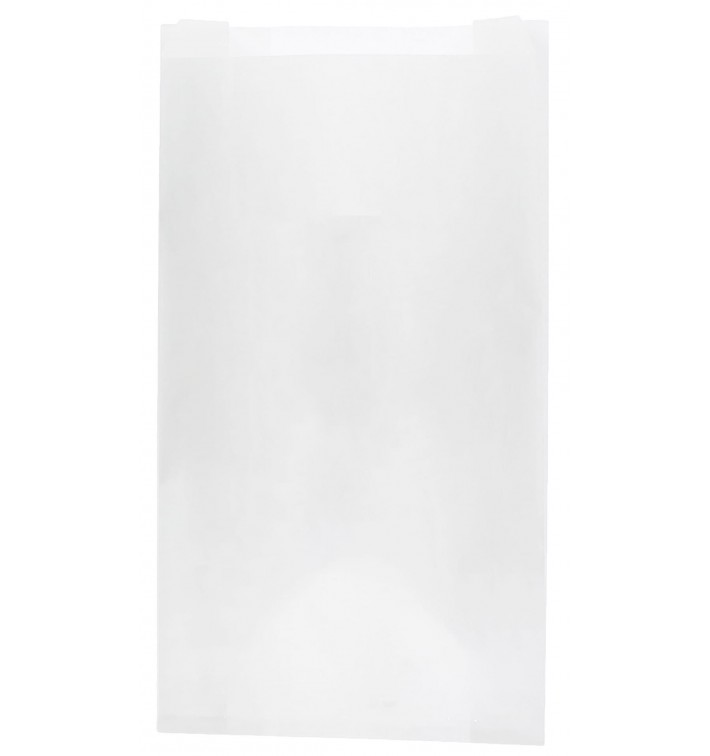 Sacchetto di Carta Bianca 12+6x20cm (250 Pezzi)