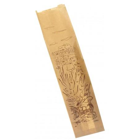 "Sacchetto di Carta Kraft ""Siega"" 9+5x32cm (1000 Pezzi)"