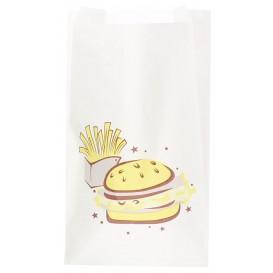 """Sacchetto per Hamburger """"Saky Food"""" 14+7x24cm (250 Pezzi)"""
