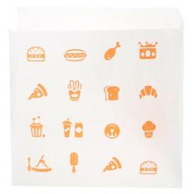 "Sacchetto di Carta ""Saky Food"" 15x15cm (250 Pezzi)"