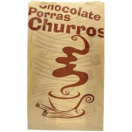 "Sacchetto per Churros ""Chocolat"" 18+7x32cm (1000 Pezzi)"