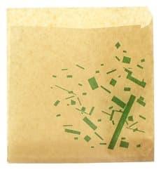 Sacchetto di Carta Antigrasso Kraft 15x15cm (250 Pezzi)