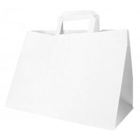 Buste Shopper in Carta Bianca 70g 32+20x23cm (50 Pezzi)