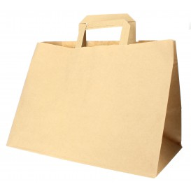 Buste Shopper in Carta Kraft 70g 32x20x23cm (50 Pezzi)
