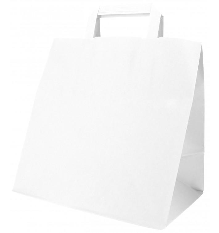 Buste Shopper in Carta Bianca 70g 26+18x26cm (250 Pezzi)