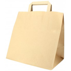 Buste Shopper in Carta Kraft 70g 26+18x26cm (50 Pezzi)