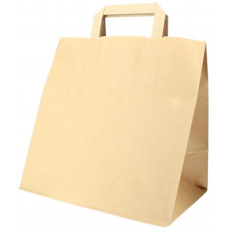 Buste Shopper in Carta Kraft 70g 26x18x26cm (50 Pezzi)