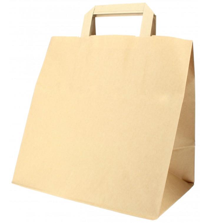 Buste Shopper in Carta Kraft 70g 26+18x26cm (250 Pezzi)