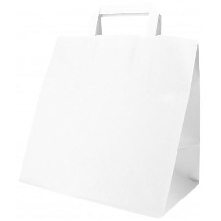 Buste Shopper in Carta Bianca 70g 26x18x26cm (50 Pezzi)