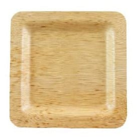 Piatto Quadrato di Bambu 12x12x1cm (10 Pezzi)