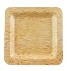 Piatto Quadrato di Bambu 15x15x1cm (10 Pezzi)
