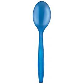 Cucchiaio di Plastica PS Premium Blu 190mm (50 Pezzi)