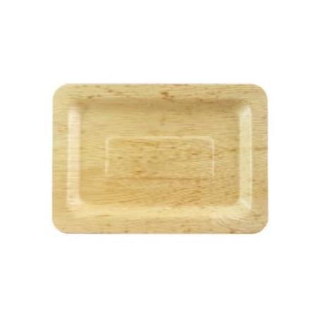 Vassoio di Bambu 20x14x1cm (10 Pezzi)