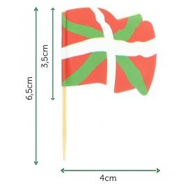 """Spiedi in Legno Bandiera """"Euskadi"""" 65mm (14.400 Pezzi)"""