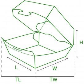 Scatola di Carta Hamburger 12x12x7 cm (450 Pezzi)