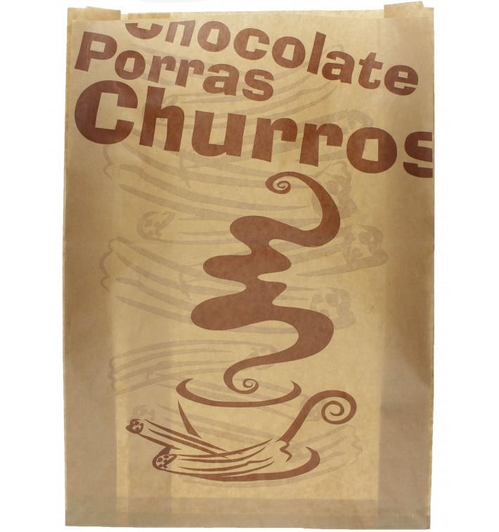 "Sacchetto per Churros ""Chocolat"" 30+9x42cm (250 Pezzi)"