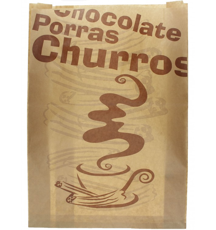 "Sacchetto per Churros ""Chocolat"" 30+9x42cm (1000 Pezzi)"
