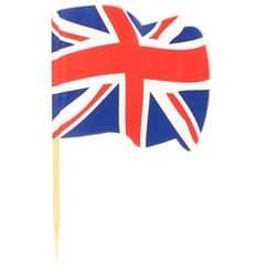 "Spiedi in Legno Bandiera ""UK"" 65mm (144 Pezzi)"