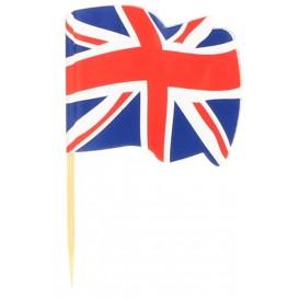 "Spiedi in Legno Bandiera ""UK"" 65mm (14.400 Pezzi)"