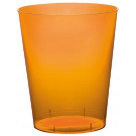 Bicchiere di Plastica Moon Arancione Trasp. PS 350ml (20 Pezzi)