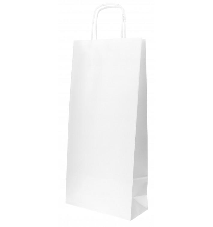 Sacchetti per bottiglie Carta Bianca 18+8x39cm (50 Pezzi)