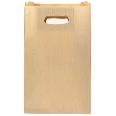 Sacchetti Carta Kraft Manico a Fagiolo 24+7x37cm (50 Pezzi)