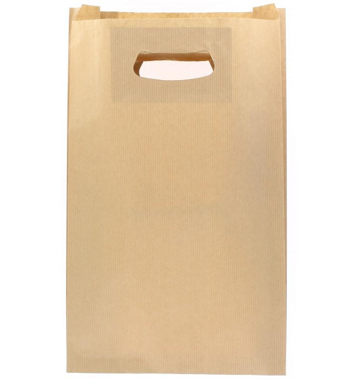 Sacchetti Carta Kraft Manico Fagiolo 24+7x37cm (250 Pezzi)