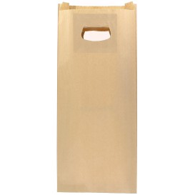 Sacchetti Carta Kraft Manico Fagiolo 18+6x32cm (50 Pezzi)
