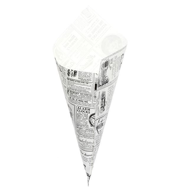 Cono di Carta Greaseproof Parchment 340mm 400g (1.000 Pezzi)