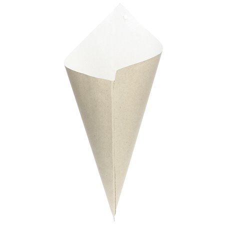 Cono di Carta Marrone 240mm 100g (200 Pezzi)