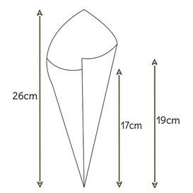 Cono di Carta Marrone 240mm 100g (2.000 Pezzi)