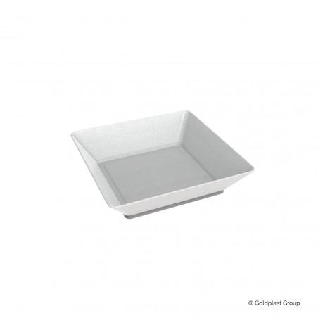 Piatto Fondo Canna da Zucchero Bianco 6,5x6,5 cm (600 Pezzi)