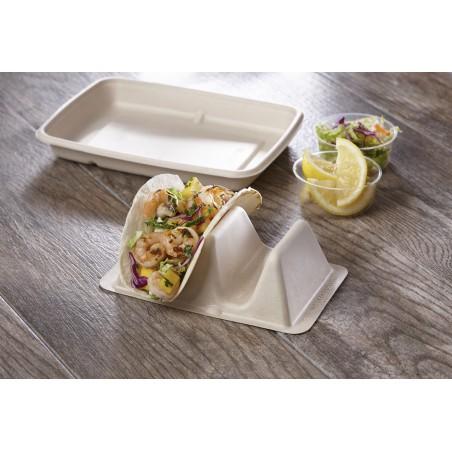 Supporto per Tacos da Canna da Zucchero 18x11x5cm (300 Pezzi)
