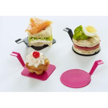 "Piatto Degustazione ""Gourmand"" Lampone Ø4,5x2cm (600 Pezzi)"