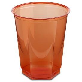 Bicchiere Plastica Esagonale PS Glas Rosso 250ml (10 Uds)