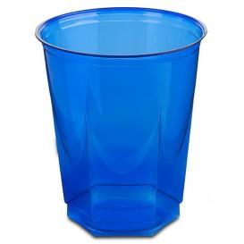 Bicchiere Plastica Esagonale PS Glas Blu 250ml (250 Uds)