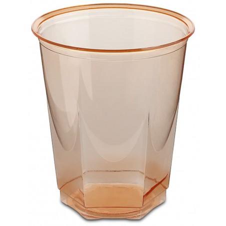 Bicchiere Plastica Esagonale PS Glas Arancione 250ml (10 Uds)