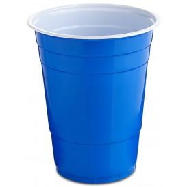 Bicchiere Blu Plastica 550ml (25 Pezzi)