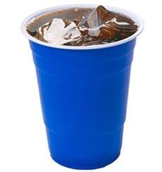 Bicchiere Blu Plastica 550ml (400 Pezzi)