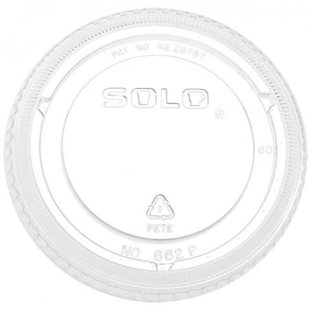 Coperchio senza Foro per Bicchieri PET Ultra Clear16Oz Ø9,86 e 24Oz (100 Pezzi)