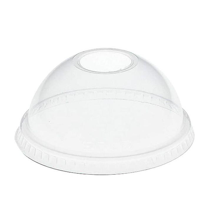 Coperchio a Cupola con Foro per Bicchieri PET Solo Ultra Clear 16Oz Ø9,86 y 24Oz (100 Pezzi)